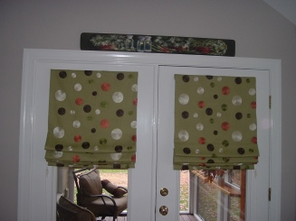 Working Roman Shades on French Doors