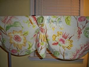 Great Valance for any room. Can be done on a board or hung from a rod.