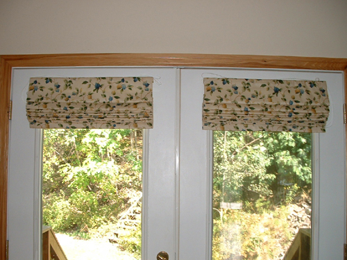 Window Treatments Roman Shades for French Doors 500 x 375